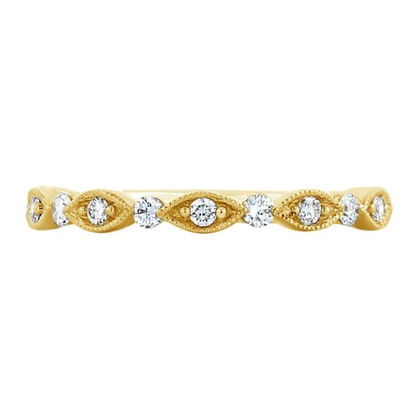 Henri Daussi 14k Yellow Gold Diamond Wedding Band 1/6 ct. tw.