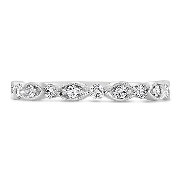 Henri Daussi 18k White Gold Diamond Wedding Band 1/6 ct. tw.
