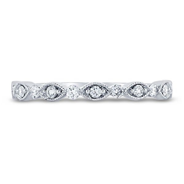 Henri Daussi 18k White Gold Diamond Wedding Band 1/6 ct. tw.