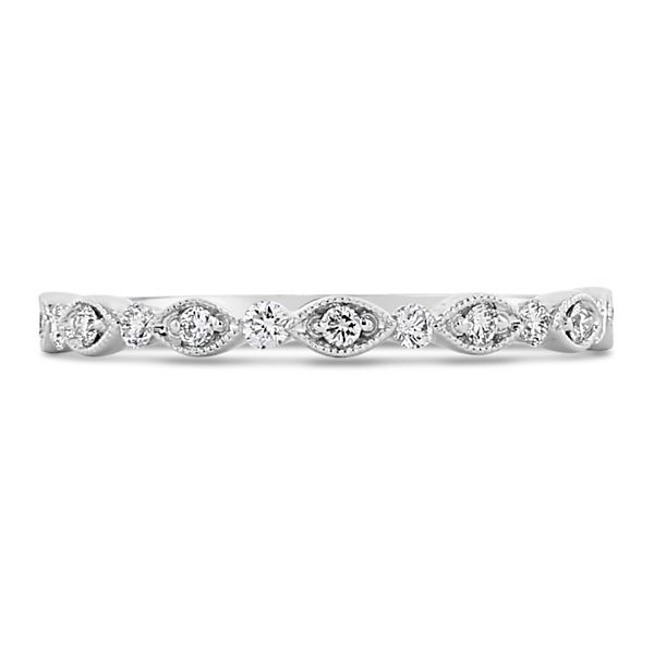 Henri Daussi 18k White Gold Diamond Wedding Band 1/5 ct. tw.