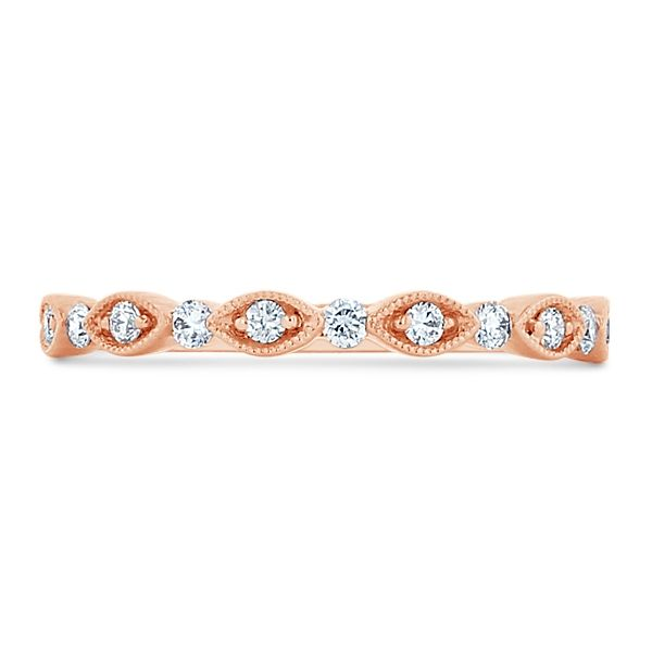 Henri Daussi 18k Rose Gold Diamond Wedding Band 1/6 ct. tw.