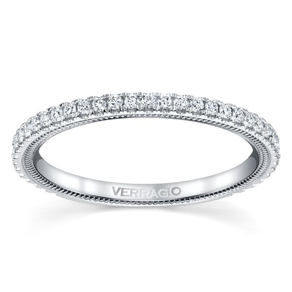 Verragio 14k White Gold Diamond Wedding Band 1/4 ct. tw.