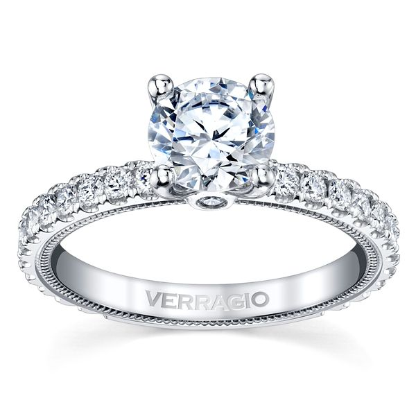 Verragio 14k White Gold Diamond Engagement Ring Setting 5/8 ct. tw.