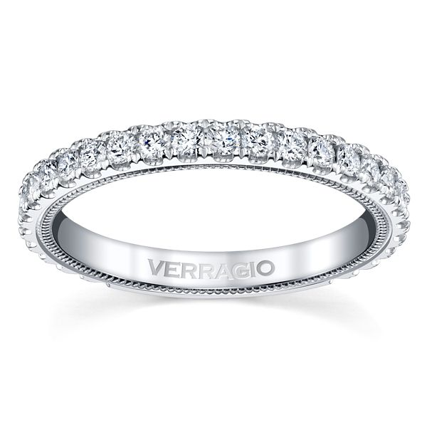 Verragio 14k White Gold Diamond Wedding Band 5/8 ct. tw.
