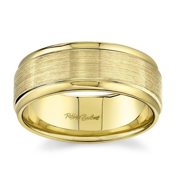 14k Yellow Gold 8 mm Wedding Band