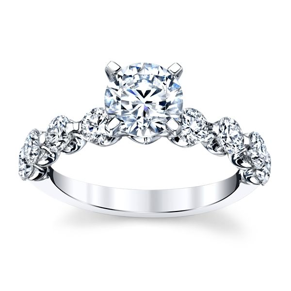 14k White Gold Diamond Engagement Ring Setting 1 ct. tw.