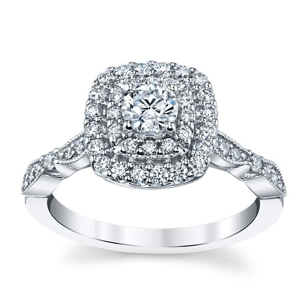 Utwo 14k White Gold Diamond Engagement Ring 5/8 ct. tw.