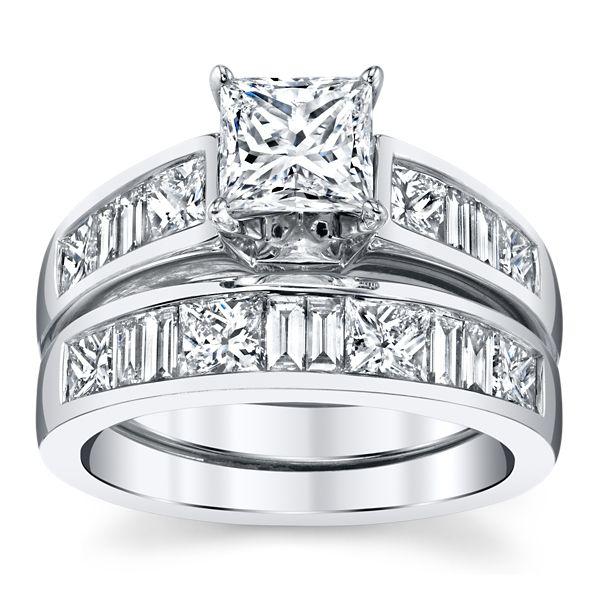 Utwo 14k White Gold Diamond Wedding Set 2 3/4 ct. tw.