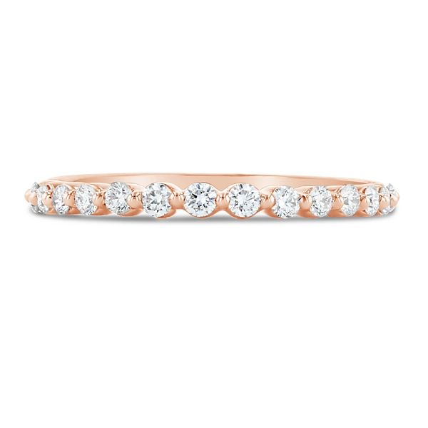 14k Rose Gold Diamond Wedding Band 1/3 ct. tw.