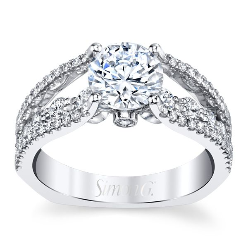 Simon G. 18k White Gold Diamond Engagement Ring Setting 3/4 ct. tw.