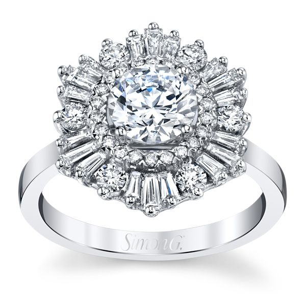 Simon G. 18k White Gold Diamond Engagement Ring Setting 3/4 ct. tw.