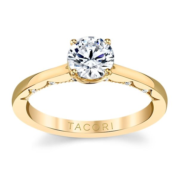 Tacori 14k Yellow Gold Diamond Engagement Ring Setting .06 ct. tw.
