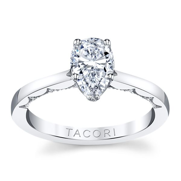 Tacori 14k White Gold Diamond Engagement Ring Setting .06 ct. tw.