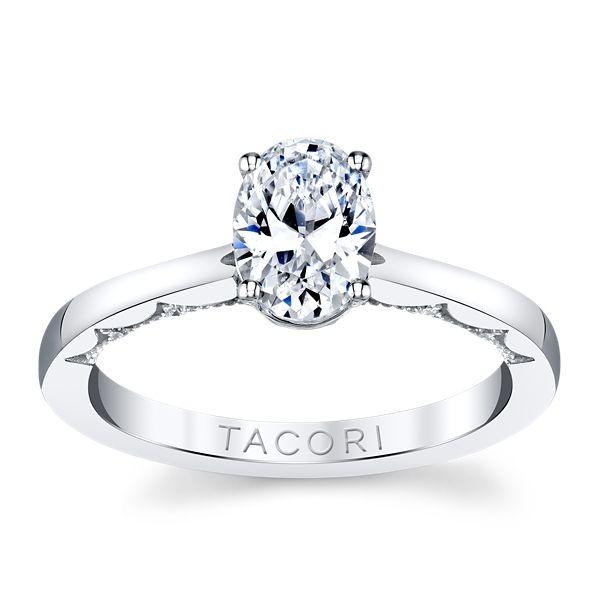 Tacori 14k White Gold Diamond Engagement Ring Setting .06 ct. tw.