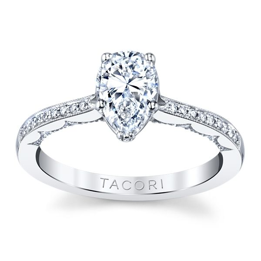 Tacori 14k White Gold Diamond Engagement Ring Setting 1/8 ct. tw.