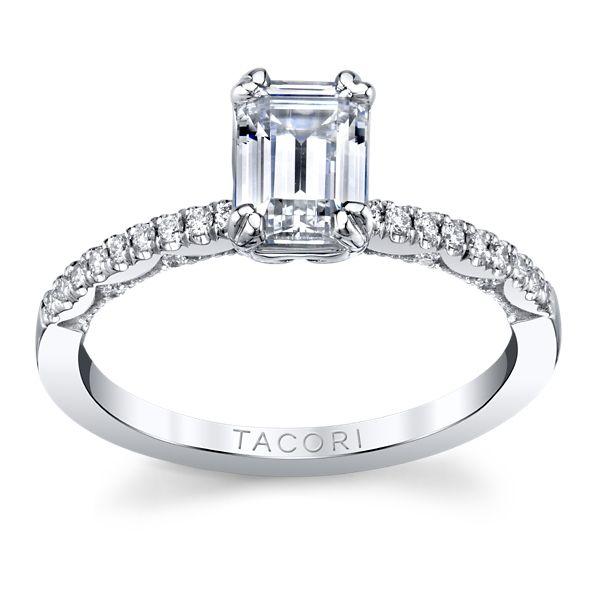 Tacori 14k White Gold Diamond Engagement Ring Setting 1/6 ct. tw.