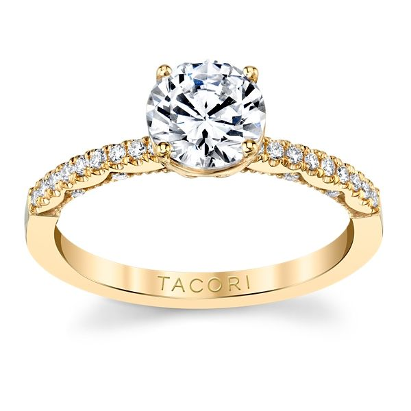 Tacori 14k Yellow Gold Diamond Engagement Ring Setting 1/6 ct. tw.