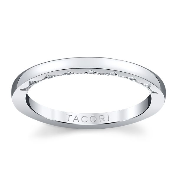 Tacori 14k White Gold Diamond Wedding Band .06 ct. tw.