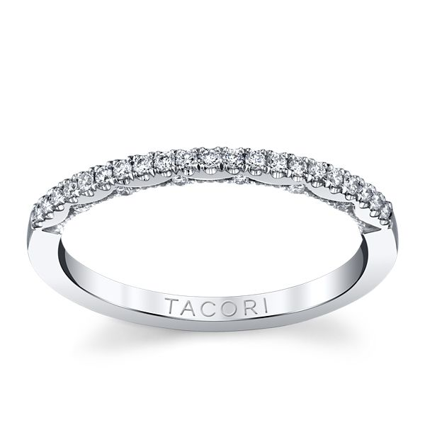 Tacori 14k White Gold Diamond Wedding Band 1/5 ct. tw.