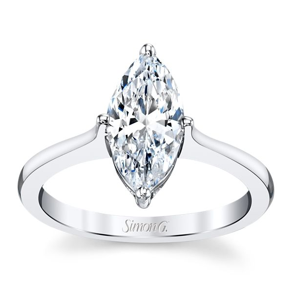 Simon G. 18k White Gold Engagement Ring Setting ct. tw.
