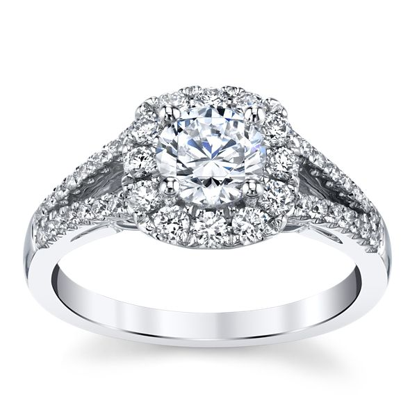 Gem Quest Bridal 14k White Gold Diamond Engagement Ring Setting 1/2 ct. tw.
