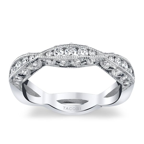 Tacori 18k White Gold Diamond Wedding Band 3/8 ct. tw.