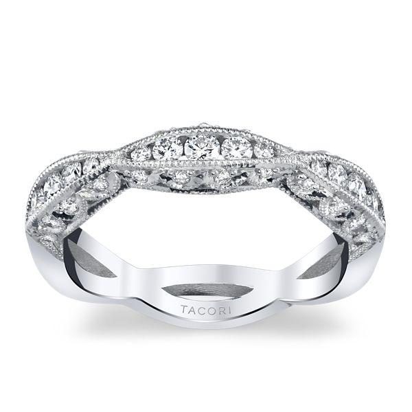 Tacori 18k White Gold Diamond Wedding Band 3/8 ct. tw.