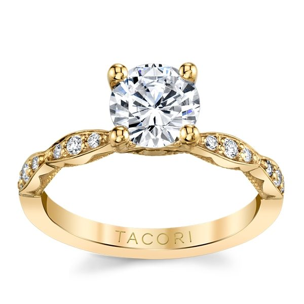Tacori 18k Yellow Gold Diamond Engagement Ring Setting 1/6 ct. tw.