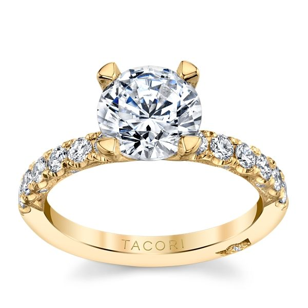 Tacori 18k Yellow Gold Diamond Engagement Ring Setting 1/2 ct. tw.
