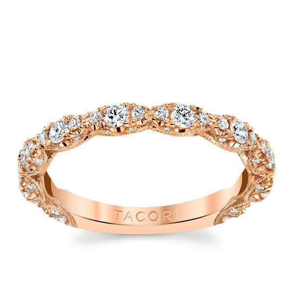Tacori 18k Rose Gold Diamond Wedding Band 1/2 ct. tw.