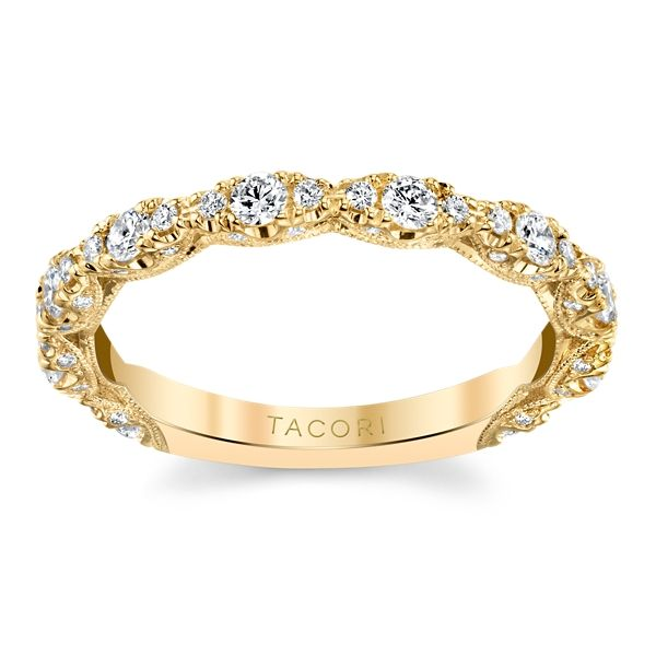 Tacori 18k Yellow Gold Diamond Wedding Band 1/2 ct. tw.
