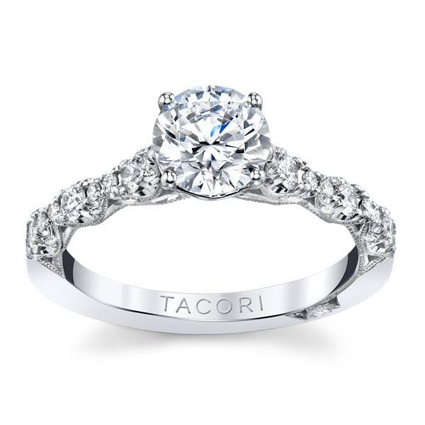 Tacori 18k White Gold Diamond Engagement Ring Setting 3/8 ct. tw.