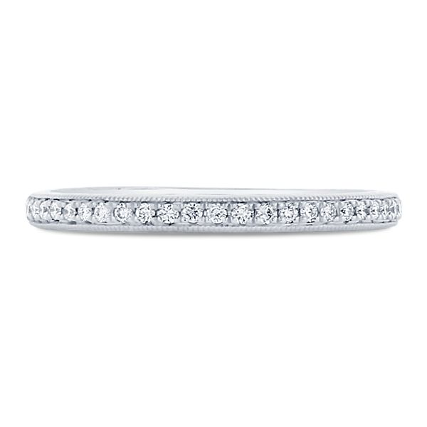 A. Jaffe 14k White Gold Diamond Wedding Band 1/10 ct. tw.