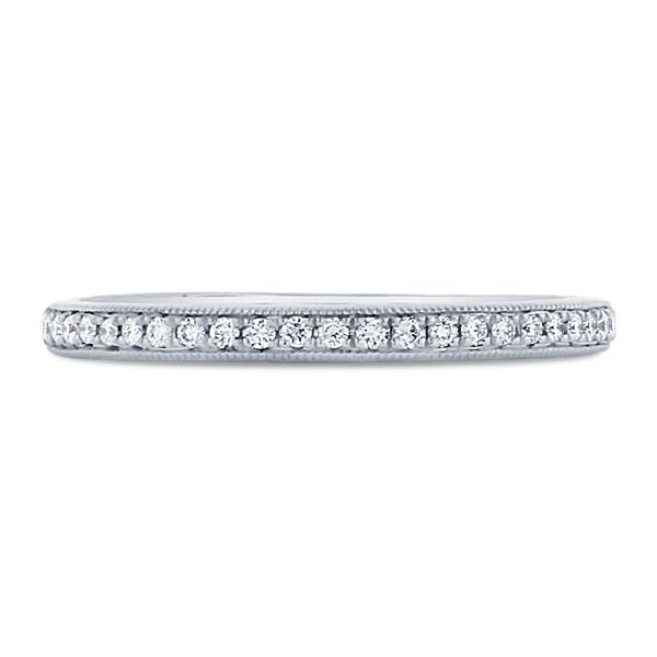 A. Jaffe 14k White Gold Diamond Wedding Band 1/8 ct. tw.