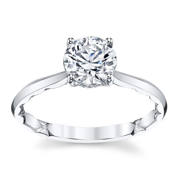 A. Jaffe 14k White Gold Diamond Engagement Ring Setting .05 ct. tw.