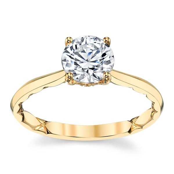 A. Jaffe 14k Yellow Gold Diamond Engagement Ring Setting .05 ct. tw.