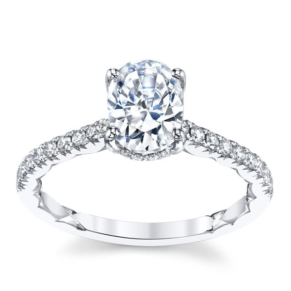 A. Jaffe 14k White Gold Diamond Engagement Ring Setting 1/4 ct. tw.