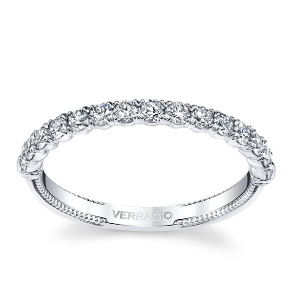 Verragio 14k White Gold Diamond Wedding Band 1/2 ct. tw.