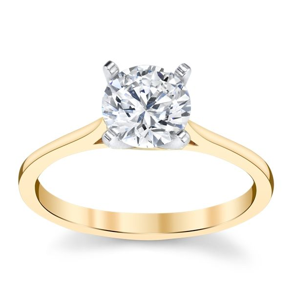 14k Yellow Gold Engagement Ring Setting