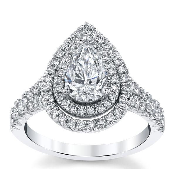 Poem 14k White Gold Diamond Engagement Ring 1 1/2 ct. tw.