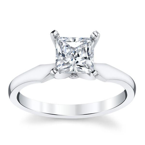 14k White Gold Engagement Ring Setting