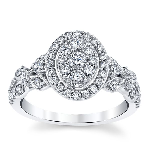 Cherish 10k White Gold Diamond Engagement Ring 3/4 ct. tw.