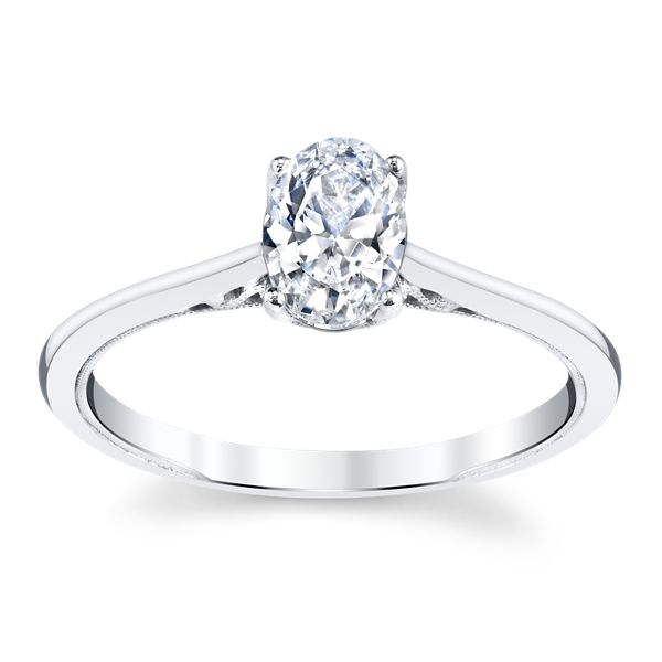 Kirk Kara 14k White Gold Engagement Ring Setting
