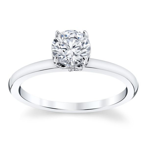 Kirk Kara 14k White Gold Diamond Engagement Ring Setting .02 ct. tw.