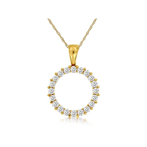 14k Yellow Gold Pendant 1/4 ct. tw.
