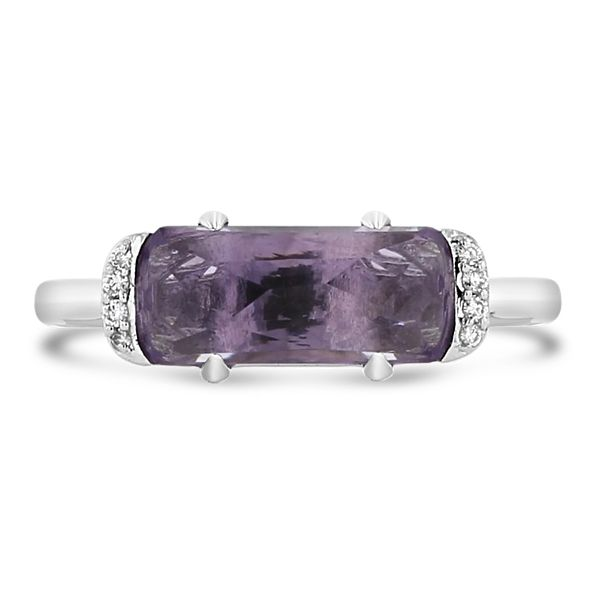 Tacori Jewelry Sterling Silver Amethyst Fashion Ring .03 ct. tw.