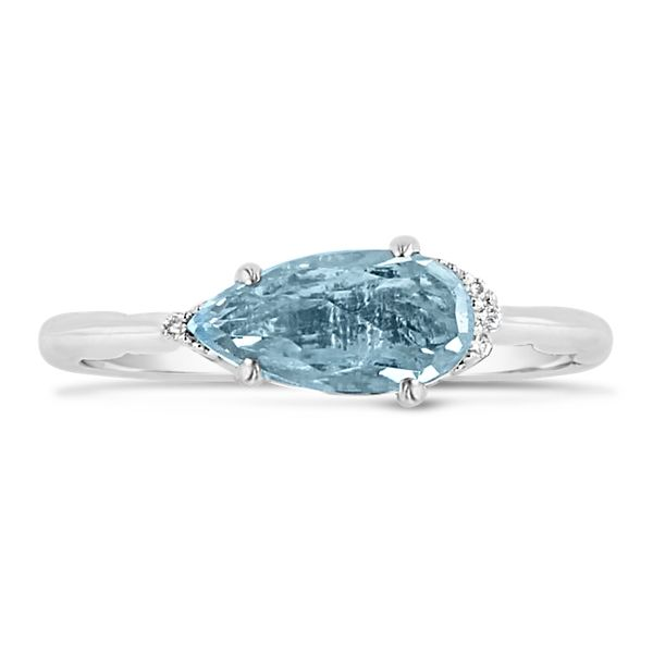 Tacori Jewelry Sterling Silver Sky Blue Topaz Fashion Ring .03 ct. tw.