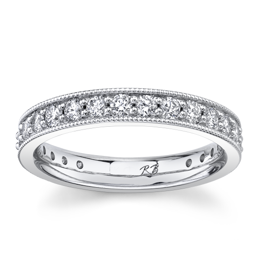 14k White Gold Diamond Wedding Band 1 ct. tw.