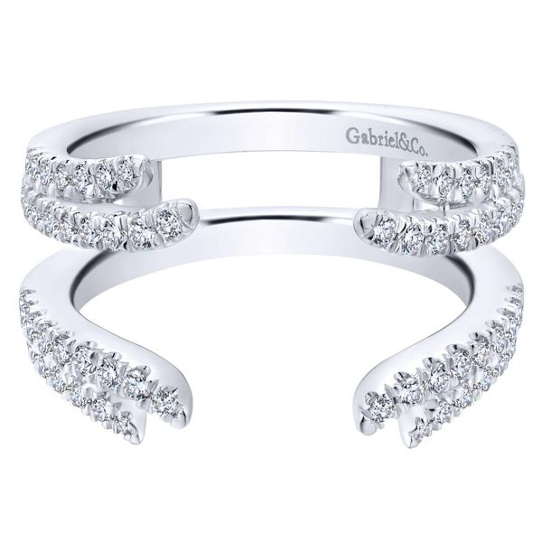 Gabriel & Co. 14k White Gold 7 mm Diamond Wedding Band 1/2 ct. tw.