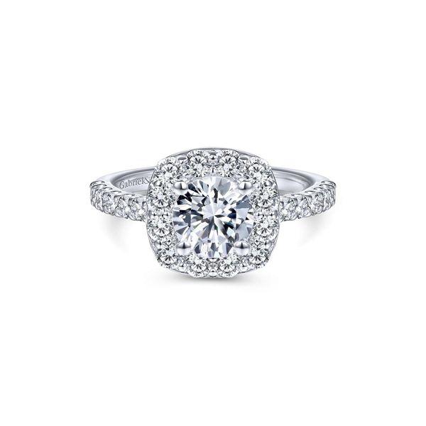 Gabriel & Co. 14k White Gold Diamond Engagement Ring Setting 7/8 ct. tw.